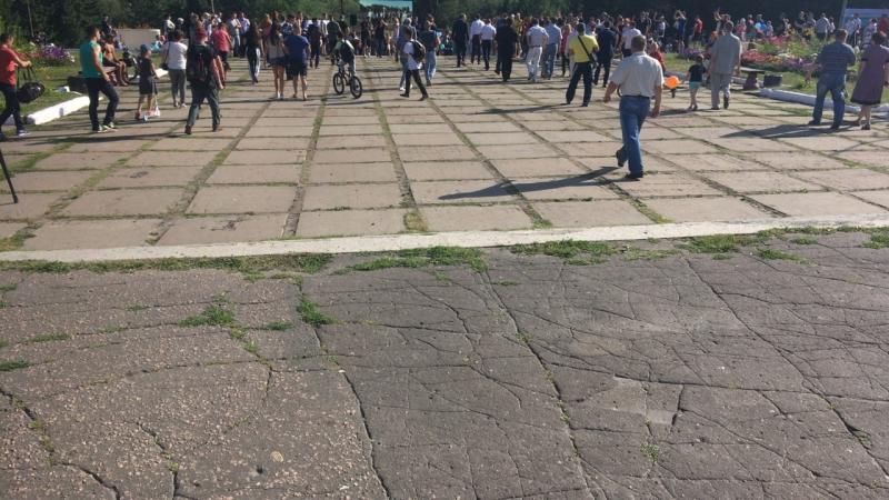 Открытие й спортивной площадки в Советском парке🏋♀️