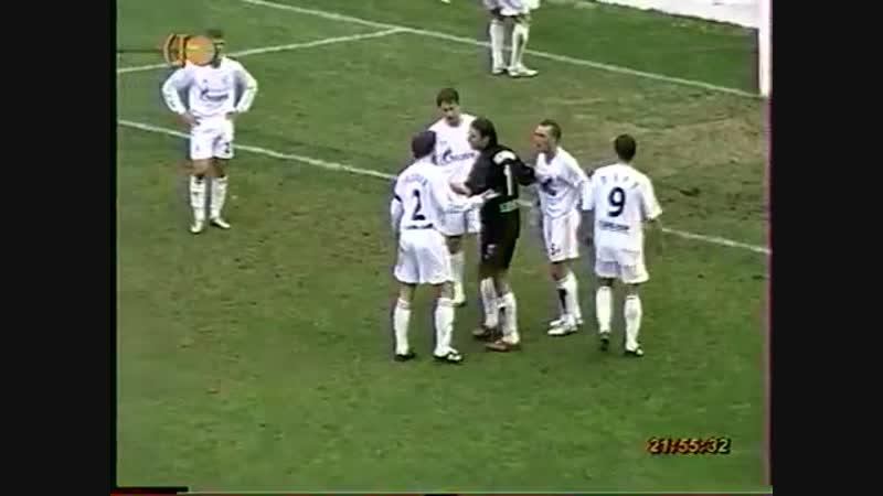 Стычка Радимова и Риксена Малага vs Зенит 30.01.2007