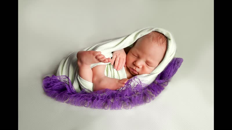 На съемке новорожденного
