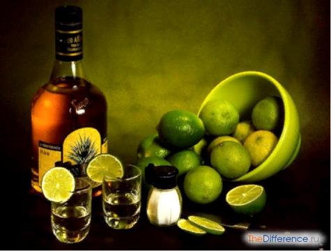 Разница между текилой и водкой Национальные алкогольные напитки есть во многих странах мира. Взять хотя бы шотландский виски, немецкий шнапс, китайский маотай, кубинский ром, французский
