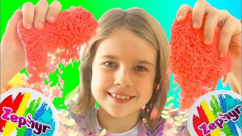 Кинетический пластилин Zephyr Уроки лепки и мастерства от Ксюши и Алисы Видео для детей