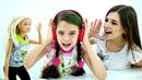 Челлендж повтори слово в наушниках. Видео для девочек с Барби.