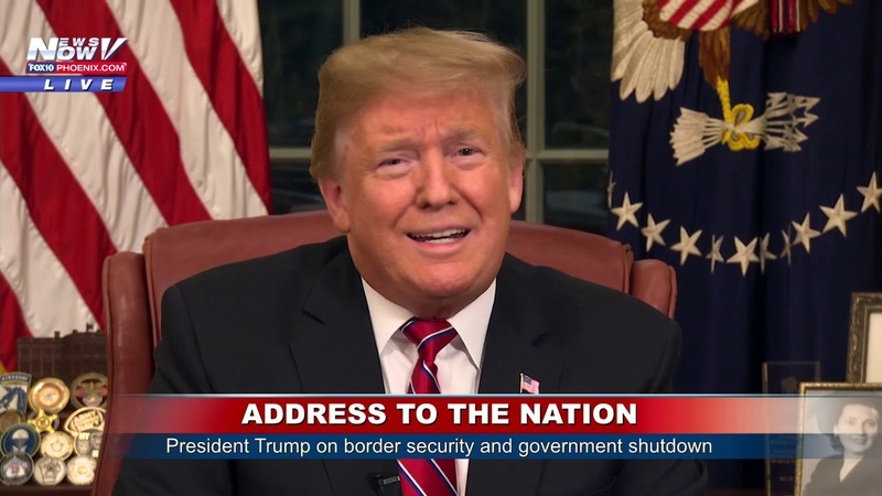 ADDRESS TO THE NATION President Trump on Border Security, Govt Shutdown from the Oval Office (FNN) - YouTube