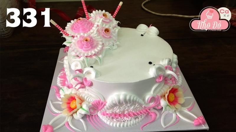 Chocolate cake decorating buttercream ( 331 ) Cách Làm Bánh Kem Đơn Giản Đẹp - Hồng Nhẹ ( 331)