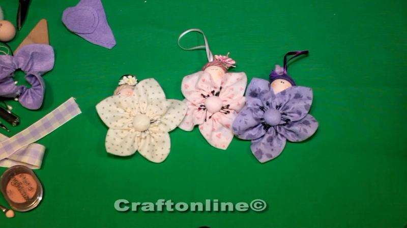 Fior di loto - fiori di stoffa tutorial by CraftOnLine