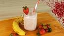 КЛУБНИЧНО БАНАНОВЫЙ КОКТЕЙЛЬ 🍹 Молочный коктейль без лактозы 🍓 Растительное питание