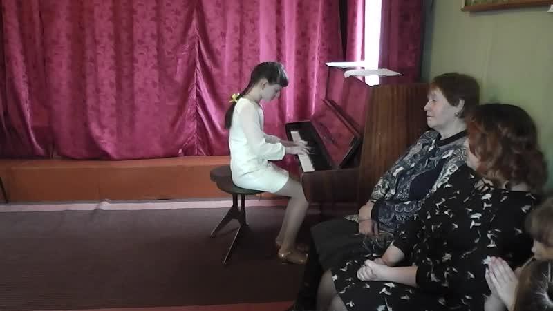 Левшакова Полина, Калинка, музыкальная школа, 21.03.19г.