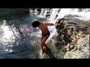 Закаливание в горной речке