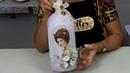 FAÇA VOCE MESMO Decoração com garrafa - ARTESANATO