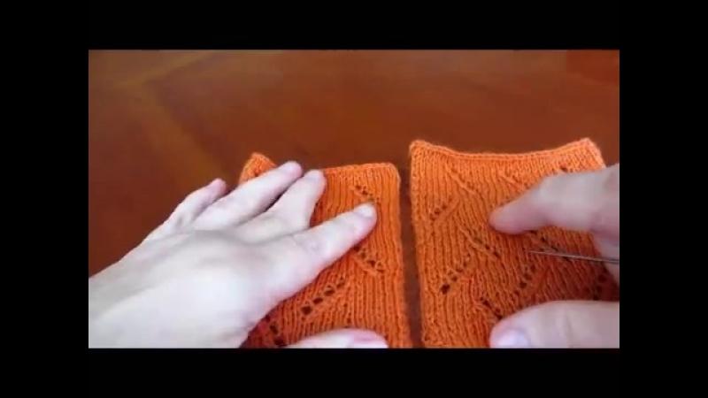 Вертикальный трикотажный шов Mattress stitch