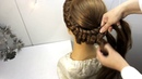 Как сделать легкую прическу на длинные волосы Прическа коса в школу на каждый день своими руками