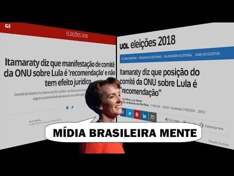 ONU apoia Lula de novo e critica mídia brasileira