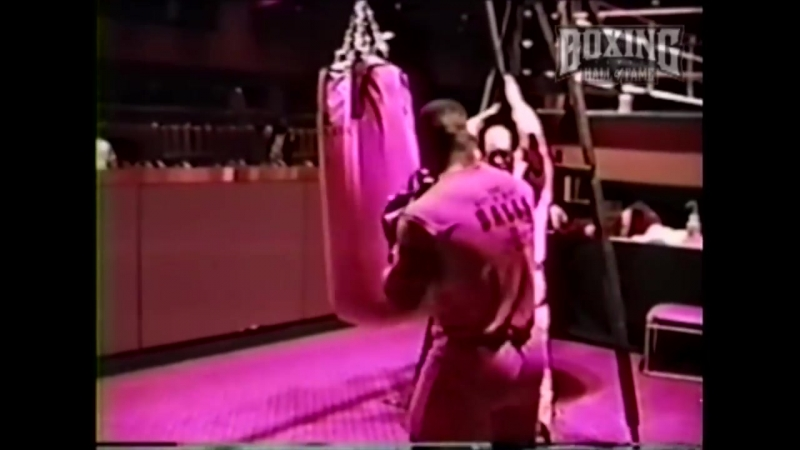 Mike Tyson Destroys Heavy Bag - Atlantic City 1987