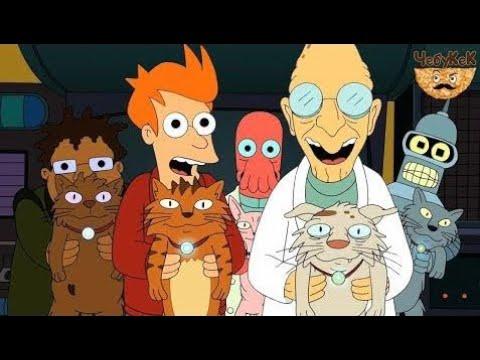 Футурама - Лучшие моменты. ЧБ 5 Коты правят миром. Робо-эволюция. ᴴᴰ