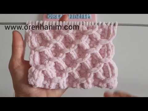 Kadife İple Bebek Battaniyesi Yapımı