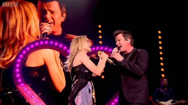 Kylie Minogue Rick Astley - I Should Be So Lucky Never Gonna Give You Up (Hyde Park 2018)