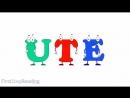 Long Vowel U Vowel Consonant Vowel, Beginning Readers Grammar Phonics Lesson