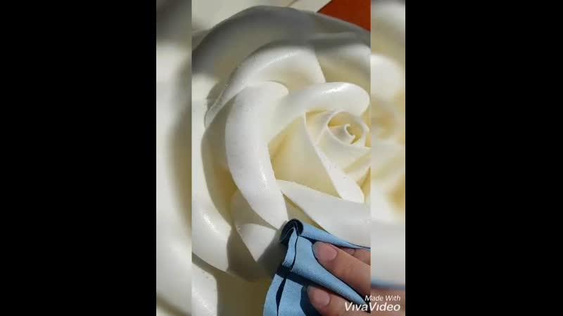 влажная уборка цветка из изолона