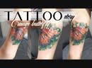 Tattoo story orange butterfly