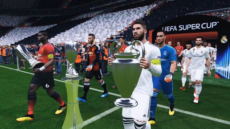 UEFA Super Cup Real Madrid vs Manchester United   Super Star Match Level