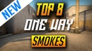 TOP 8 ONE WAY SMOKES FOR DUST 2 *NEW* (2018)