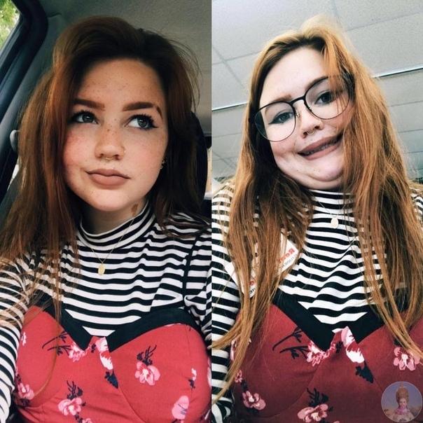 Красотки знают, как при помощи ракурса подать свое лицо в еще более выгодном свете А эти девчонки настолько смелы, что выкладывают в интернет самые неудачные