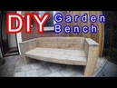How to Build an Garden lounge Seat Sofa XL - time lapse Modern scaffold planks