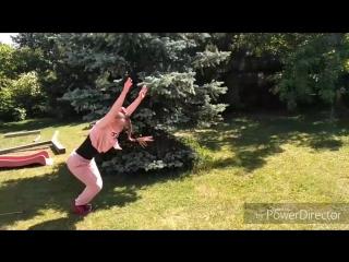 колесо без рук, акробатика