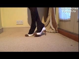 Shoeplay in my Stilas ballerina flats (Ножки, Фетиш, Фут, Foot, Fetish, Чулки, Legs, Секси)