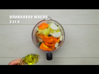 Гаспачо. Испанская кухня. Рецепт от Всегда Вкусно! Помидоры и сладкий перец, свежий огурец и листья базилика, приправленные оли