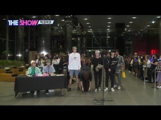 180918 pentagon on the way out! @  sbs the show