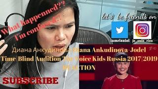 Диана Анкудинова|Diana Ankudinova-Jodel Time|Blind Audition The Voice Kids Russia 2017|2019 REACTION