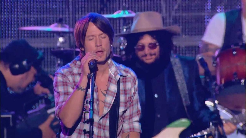 KEITH URBAN JOHN FOGERTY BOOKER T JONES ROCKIN IN THE FREE WORLD TRIBUTE TO NEIL YOUNG