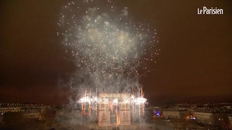 Champs Elysées revivez le feu d'artifice du nouvel an