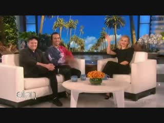Patrick stump and pete wentz talk about their kids on the ellen show [cheeky]