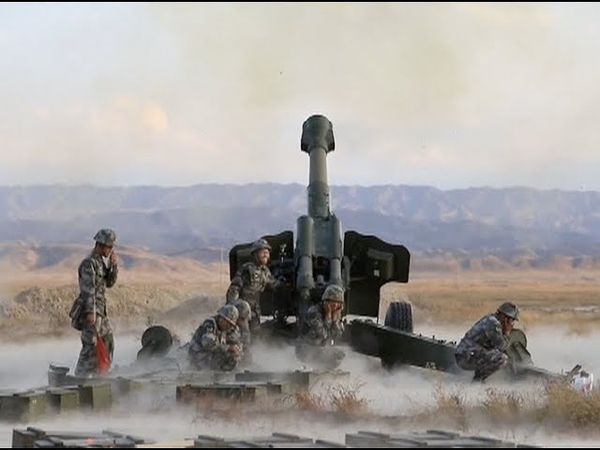 Chinese Artillery Troops Conduct Live-fire Exercise