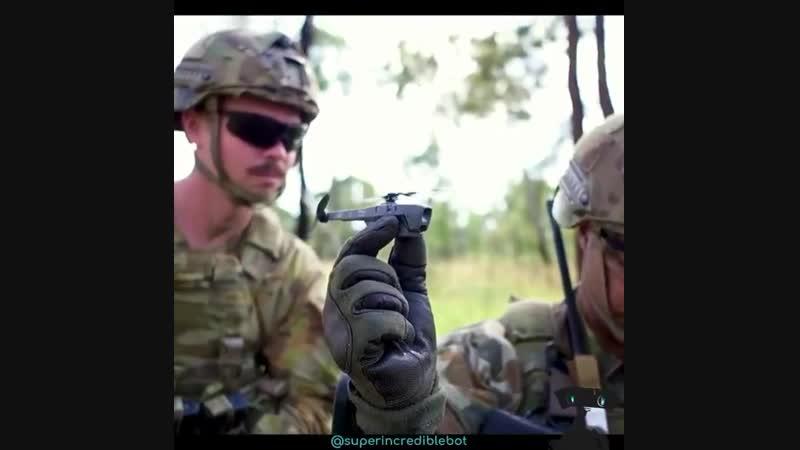 Нічого особливого. Просто крихітний дрон-розвідник для солдатів НАТО.