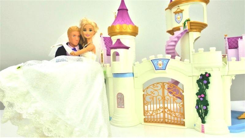 Барби выходит замуж. Куклы Barbie и Кен на свадьбе