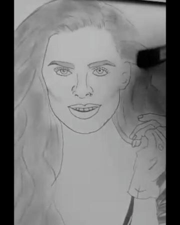 Zeynep Akçay в Instagram: «@ozpirincci çizimi çok güzel gidiyor ;) Çok uzun sürüyor diye video yapmak istedim :) Yoruyor ama güzel olacak :) kadin...