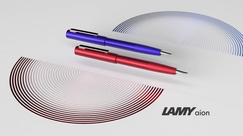 LAMY aion red blue