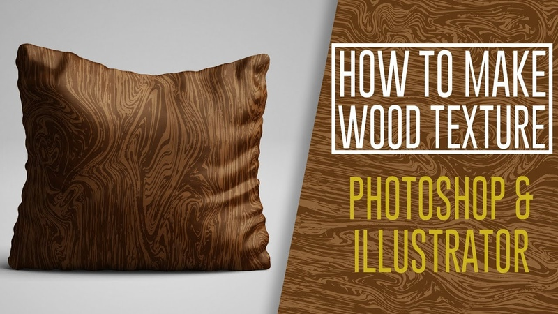 Photoshop Tutorial - How to Create a Wood texture [Illustrator Vector]