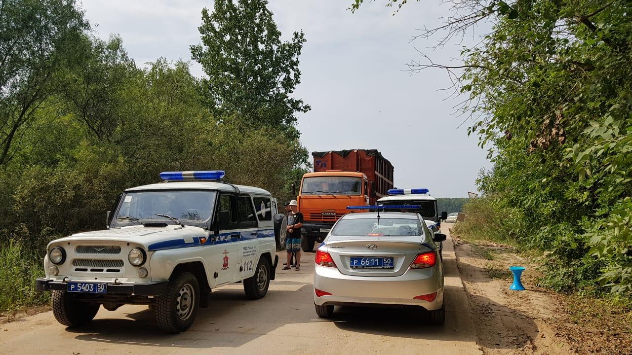 В Дмитровском районе задержали 12 человек возле мусорного полигона