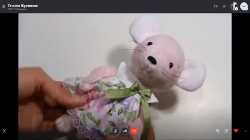 Съемное платье с круглой кокеткой для куклы или зверушки Кукольная мастерская