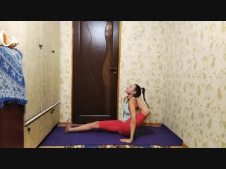 Sls my home yoga workout. contortion