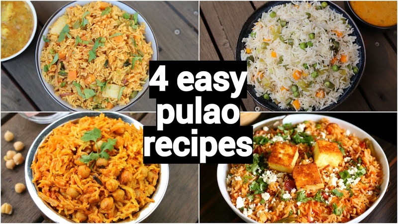 4 easy quick lunch box pulao recipes | one pot tiffin box recipes | lunch box rice recipes