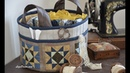 Patchwork Sewing basket - Flying Geese Corner. Tutorial LizaDecor
