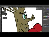 draw trees part 1 outline and painting Adobe Illustrator