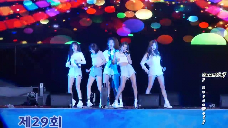 180914 AOA - Bingle Bangle, Excuse Me, Like A Cat, Heart Attack @ 29th Gyeongsangnam-do Sports for All Festival