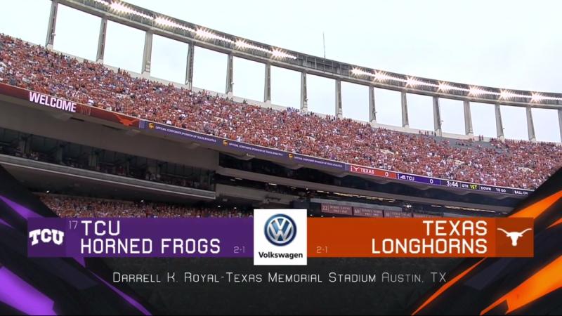 NCAAF 2018 / Week 04 / (17) TCU Horned Frogs - Texas Longhorns / EN
