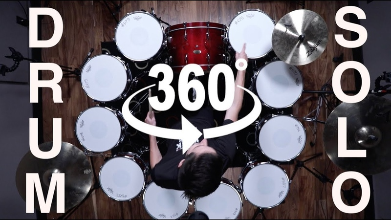 360 DEGREE DRUM SOLO - RING OF FIRE! - 10 Igniter Snares!